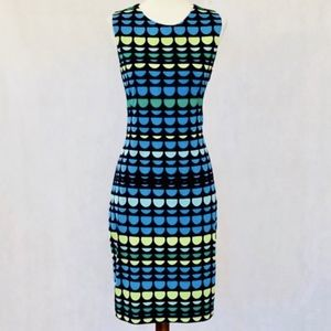 Vince Camuto Sleeveless Pattern Sheath